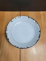 Mikasa Marlboro Soup Bowl White Scalloped Edge Platinum Trim & Verge #9267 - $5.69