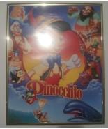 Pinocchio Walt Disney Vintage Framed Poster for Kids Room Decor Gold Trim - $24.74