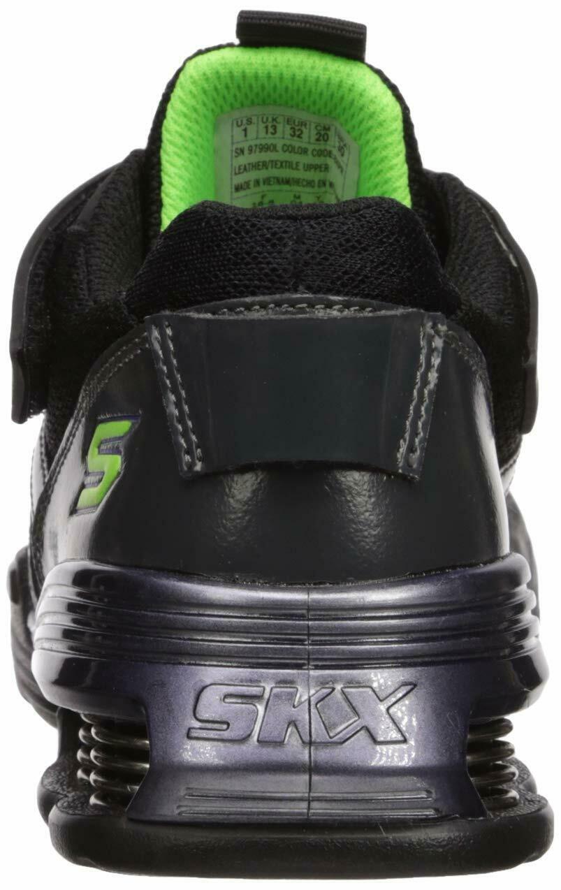 Skechers Kids Boys' MEGA-Volt Sneaker, Black/Purple, 13.5 Medium US Little Kid image 2