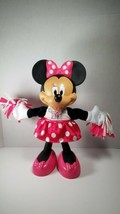 Minnie Mouse Cheerleader Disney Cheerin Cheers Sings Shakes Pom Poms  - $12.60