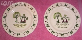 CALIFORNIA-- Metlox (Poppy TRAIL)- Two Homestead Provincial Bread Butter Dishes - $12.45