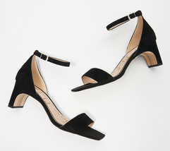 Sam Edelman Ankle Strap Heeled Sandals - Holmes Black 7 M - $69.29