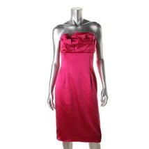 Tahari ASL New Womens Pink Metallic Ruffled Party Cocktail Dress   6 - $147.51