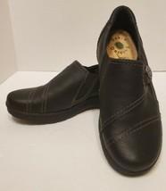 Earth Origins Welltek System Nola Womens SIze 6 M Black Vegan Slip On Shoes - $29.69