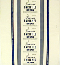 Vintage bread wrapper GRAEVENS ENRICHED Milwaukee Wisconsin unused new o... - $8.99