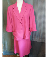 Womans Size 12 Suit Jacket Blazer and Skirt Dark Pink  Vintage yet timel... - $31.68