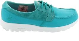 Skechers On-the-GO Boat Shoes Goga Mat Seaside Turquoise 9M NEW A287178 - $53.44