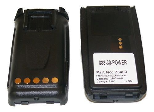 2X Battery for Macom Harris P5300 P5370 P5400 P5450 2500MAH 18 Month Warranty