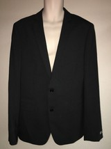 Express Blazer Suit Jacket Black Stripe Photographer Fitted Mens 42 Long... - $52.25