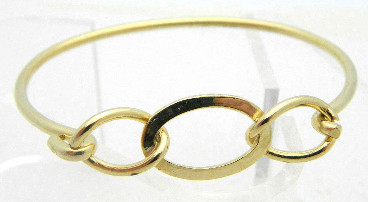 Primary image for Vintage Dainty Gold Tone Infinity Knot Bangle Bracelet