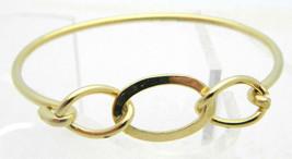 Vintage Dainty Gold Tone Infinity Knot Bangle Bracelet - $19.80