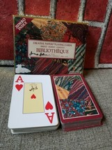 Piatnik Playing Cards Gold box Bibliotheque Bridge, Rummy & Canasta used 2pk - $18.33