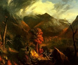 View In The White Mountains American Landscape Painting By Thomas Cole Repro - $10.96+