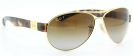 RAY-BAN Rb 3509 001/T5 Gold Havana Polarized Authentic Frames Sunglasses 63-15 - $74.05