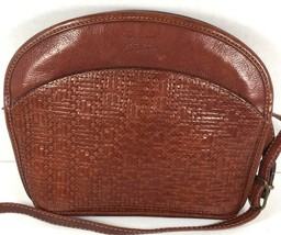 Texier Vintage Small Brown Leather Crossbody Shoulder Bag - $48.49