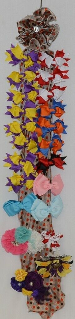 Unbranded Wholesale Lot 22 Bows Assorted Colors Bow Hanger Included