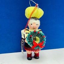 Hersheys Christmas ornament Kurt Adler collector series elf dwarf Wreath... - $11.60