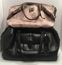 Lot Of 2 Coach Handbags K1082-15935 & Black Coach Bag Purse & Dust Bag - €103,28 EUR