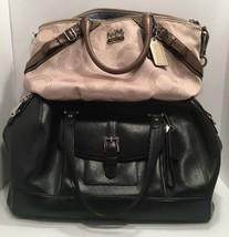 Lot Of 2 Coach Handbags K1082-15935 & Black Coach Bag Purse & Dust Bag - $2.252,89 MXN