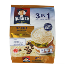 QUAKER OATS 3-in-1 Oat Cereal Drink MOCHA (12 sachets x 28g) EXPRESS SHI... - $24.90