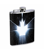 Skyscrapers Em1 Flask 8oz Stainless Steel Hip Drinking Whiskey - $13.81