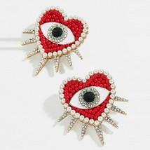 Beads Earring Red evil eye Heart Dangle Drop Earrings Fashion Party Jewe... - $5.91+