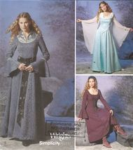 Misses LOTR Inspired Mists of Avalon Medieval Halloween Costume Sew Pattern 6-12 - $12.99
