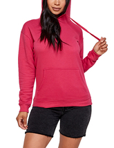 Women's Soft Lightweight Pull Over Sweatshirt Casual Drawstring Hoodie Sweater image 9