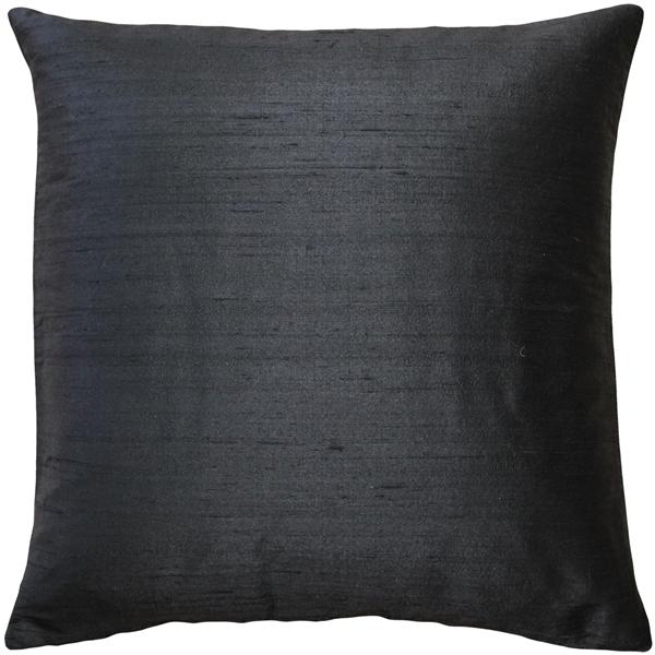 Pillow Decor - Sankara Black Silk Throw Pillow 20x20