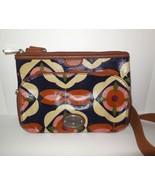 Fossil Key-Per Coated Canvas Crossbody Shoulder Bag Floral Multi Color M... - $29.00