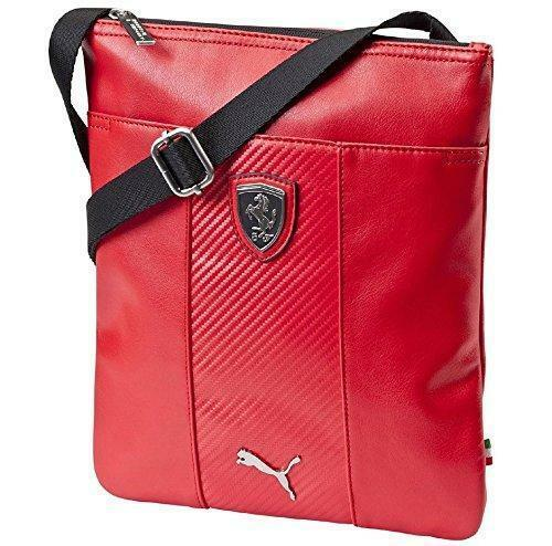 NEW PUMA SCUDERIA FERRARI F1 PORTABLE SIDE SHOULDER MAGAZINE BAG RED 07314802