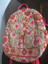 Vera Bradley Retired Rare Folkloric Bookbag Backpack School Carry On Exc... - $34.65