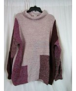 NWT American Rag Mock Neck Pale Mauve Color Block Tight Knit Xlarge Org ... - $35.14