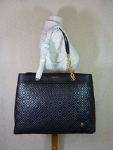 NWT Tory Burch NEW VERSION Black Fleming Triple Compartment Shoulder Tote - $572.21