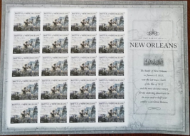 New Orleans The War 1812- 20 (USPS) SHEET FOREVER STAMPS - $14.95