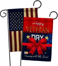 Happy Veteran Day - Impressions Decorative USA Vintage - Applique Garden... - $30.97