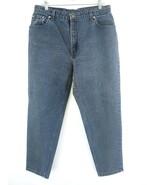 VTG Levi's Women's 551 Black Denim High Rise Tapered Jeans Size 16 - $39.59