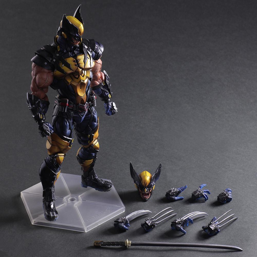 Wolverine Figure LOGAN X Men X-MEN Play Arts Kai Wolverine James LOGAN for sale  USA