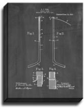 Hockey Stick Patent Print Chalkboard on Canvas - $39.95+