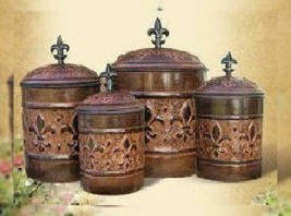 4 Piece Versailles Canister Set with Fresh Seal Covers - $61.36 CAD