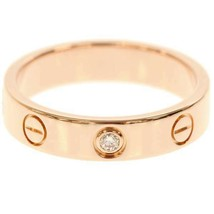 Cartier Mini Love Ring Diamond 1P 0.02ct K18PG Pink Gold US5 Used Excell... - $1,382.04