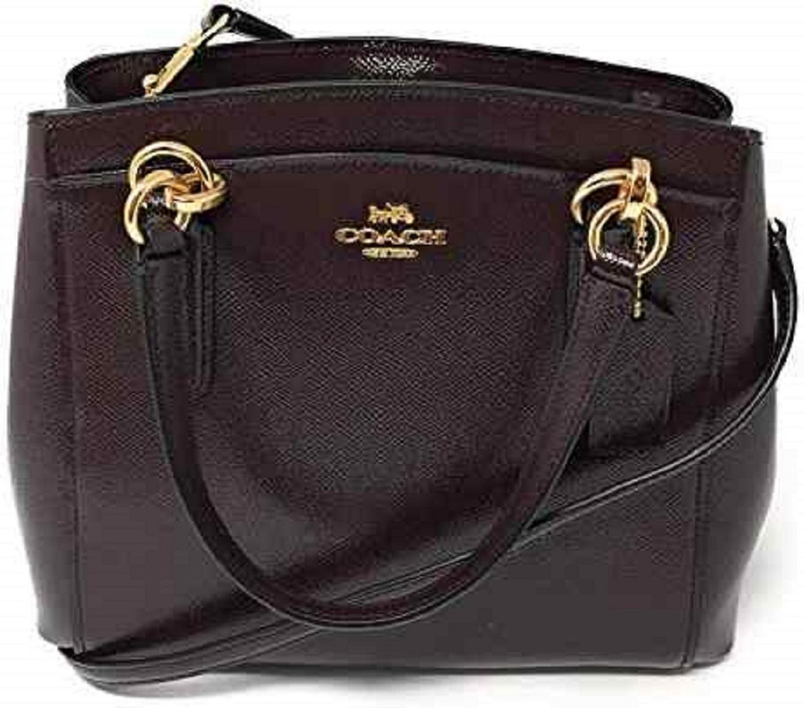 Coach Minetta Crossbody F37837 Oxblood Crossgrain Leather
