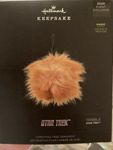 New! SDCC 2020 Hallmark Star Trek TRIBBLE Fabric  Ornament with Sound an... - $49.49