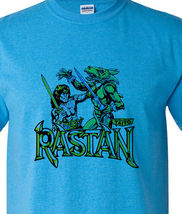 Rastan t shirt retro 1980 s arcade video game vintage heather blue 1 graphic tee thumb200