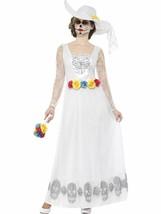 Día de los Muertos Esqueleto Novia Traje ,Mediano, Disfraz Halloween, GB... - $48.36