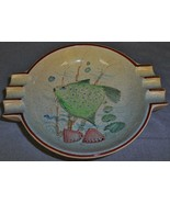 MID CENTURY DESIGN Villeroy & Boch ART POTTERY Ashtray w/ FISH DESIGN - $19.79