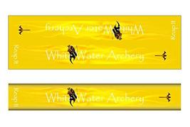 An item in the Sporting Goods category: White Water Archery WWA Grim Reaper Reap It Flames Yellow Solid Color Stabilizer