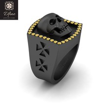 Horror Theme Inspired Witchy Spooky Skull Wedding Anniversary Band Gift For Mens - $2,649.99