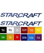 "StarCraft Camper Vinyl decals (2) With 18""X4"" Choose Color Free Ship ! - $11.36"