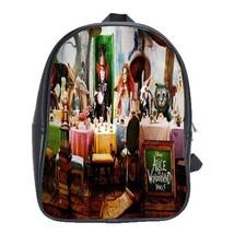 Backpack School Bag Beautiful Alice In Wonderland Fairy Tale Novel Game Animatio - $33.00